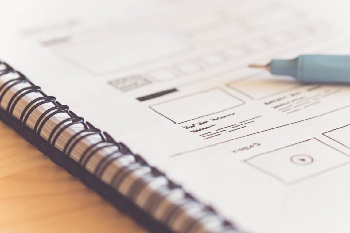 Sketching startup website ideas